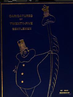 Cover of: Caricatures of twenty-five gentlemen | Sir Max Beerbohm
