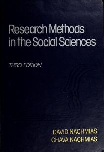 Cover of: Research methods in the social sciences | David Nachmias