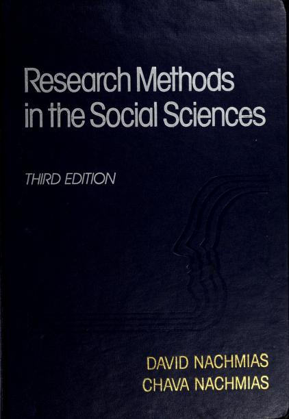 Research methods in the social sciences by David Nachmias